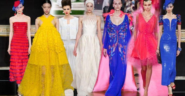 1eba37efa ومن خلال أسبوع باريس للأزياء الراقية، تبيّنت لنا لوحة الألوان الرئيسية  لفساتين السهرة 2019 والتي اتّسمت بمزيج ...