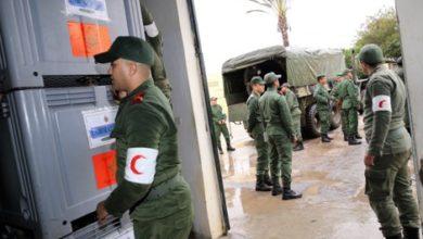 صورة فيديو- تشييد مستشفى عسكري ميداني خاص بعلاج وباء كوفيد 19 في المغرب في غضون ستة ايام فقط