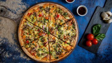 صورة بيتزا بالخضراوات