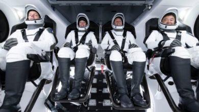 """صورة لأول مرة """"سبيس إكس"""" تعيد استخدام صاروخ لنقل 4 رواد لمحطة الفضاء الدولية"""