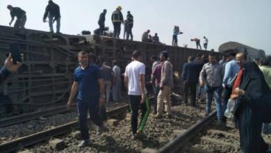 صورة مصر.. وفاة 16 وإصابة العشرات في حادث خروج قطار عن القضبان في طوخ شمال القاهرة