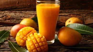 صورة طريقة عمل سموثي المانجو مع البرتقال
