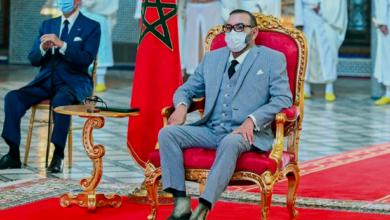 """صورة الملك محمد السادس يترأس حفل توقيع اتفاقيات لتصنيع وتعبئة لقاح """"كورونا"""""""